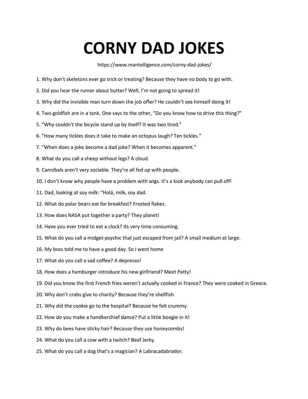 list of corny dad jokes-1